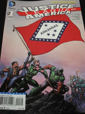"Justice League Of America #1 ""the New 52"" Arkansas Flag Variant!"