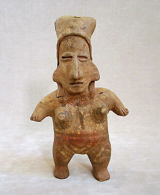 Pre-Columbian JALISCO STANDING FEMALE FIGURE, ca. 300 BC - AD 300