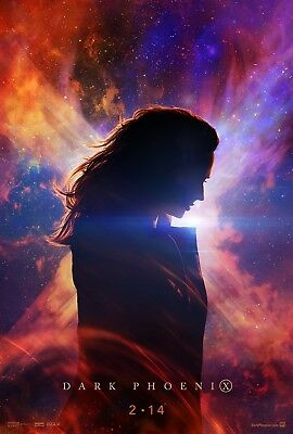 "Marvel DARK PHOENIX 2019 Advance Teaser Ver A DS 2 Sided 27X40"" US Movie Poster"