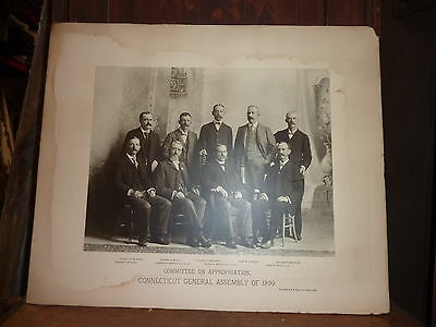 Connecticut General Assembly 1899 Committee on Appropriation LARGE photo 19 x 16
