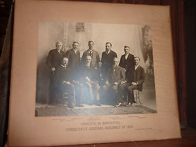 Connecticut General Assembly 1899 Committee on Agriculture LARGE photo 18.5 x 16