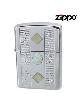 Personalised Zippo Lighter Opalescence Heavy Wall Armor Case Engraved
