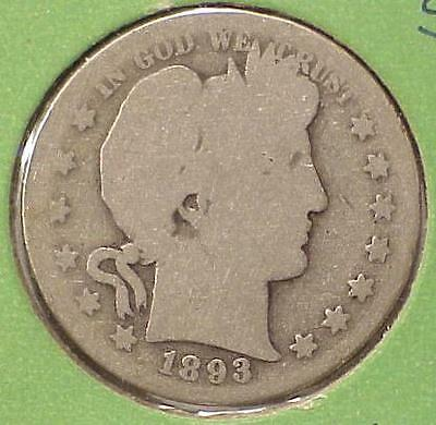 1893-S Barber Half Dollar ~ San Francisco Silver