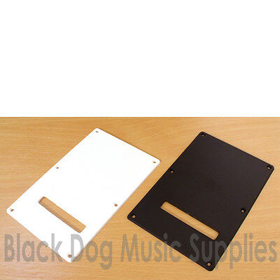 Guitar tremolo spring cavity cover , back plate in white or black inc screws