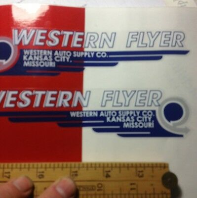 Western Flyer decal Set Doodlebug scooters & others; Western Auto Supply Kansas