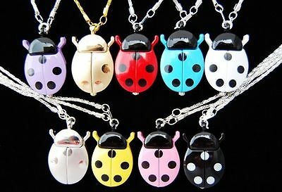 Wholesale 10 pcs cute Ladybug style Necklace watches gifts  L2