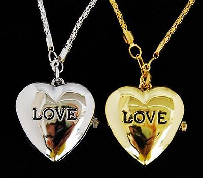 Wholesale 10 pcs Love heart design necklace watches L34