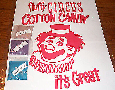 3 COTTON CANDY mix w/ SUGAR FLAVORING FLOSSINE FLAVORED FLOSS ** CHOOSE FROM 15