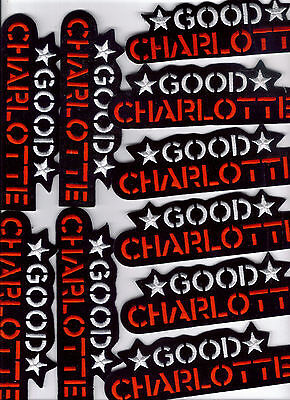 Good Charlotte Embroidered Iron On Patch Bulk Lot Of 10 Patches Brand New!