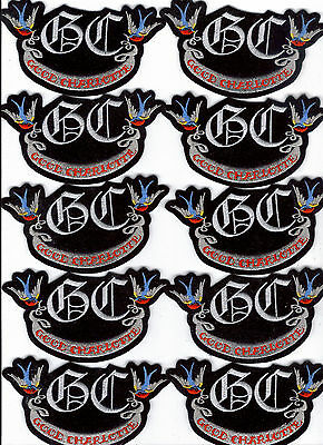 Good Charlotte Birds Embroidered Iron On Patch Bulk Lot Of 10 Patches Brand New!