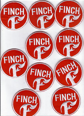 Finch Red Logo Bulk Lot Of 10 Patches Brand New!
