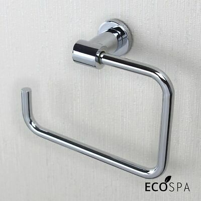 Wall Mounted Toilet Roll Holder | Square Design | Chrome Bathroom Accessory NEW