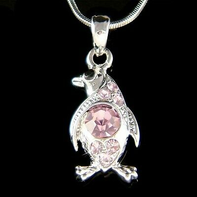 ~Purple Penguin~ made with Swarovski Crystal Antarctica Galápagos Charm Necklace