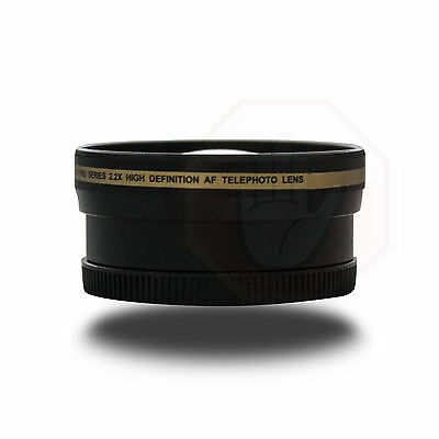 52mm Professional HD 2x Telephoto lens + Carry Case fit Nikon Canon Sony Lens