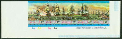 Anguilla 1971 Sea Battles imperf proofs strip of five-2