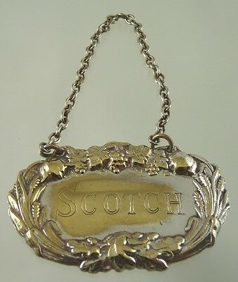 SCOTCH with GRAPE, LEAF & WHEAT BORDER DECANTER LABEL BY unknown