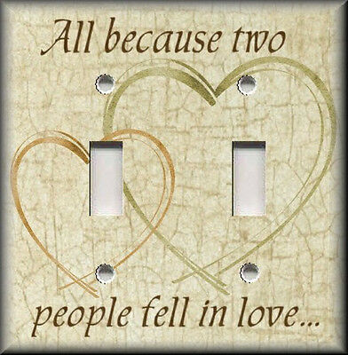 Metal Light Switch Plate Cover - All Because Two People Fell In Love Home Decor