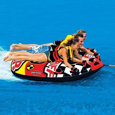 Sportsstuff 3 Riders Frequent Flyer Boat Tow Behind Towable Water Tube 53-1661