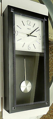 MODERN/CONTEMPORARY BLACK WALL CLOCK MADE BY THE HERMLE CLOCK COMPANY
