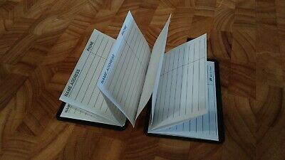 Lot of 4 Pocket Compact Magnetic Close White Address Books in Plastic Sleeves