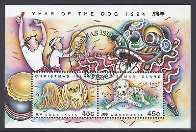 1994 Christmas Island Year Of The Dog Miniature Sheet Fine Used Cto