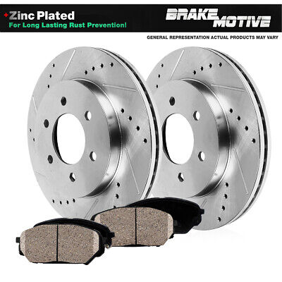 Front DRILLED Disc Rotors /& Ceramic Pad for 2005-2014 Toyota Tacoma FJ Cruiser