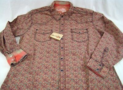 Mens NWT Wrangler 20X Twenty X Long Sleeve Floral Shirt MJ1248M Any Sz S M L XL