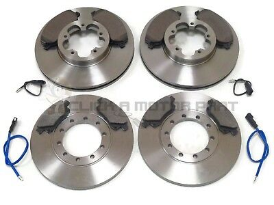 FORD TRANSIT 06-13 280 300 330  350 FRONT /& REAR BRAKE DISCS AND PADS SET RWD