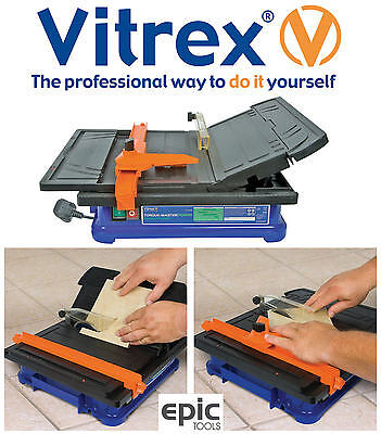 Vitrex Torque-Master Electric Diamond Wet Tile Bench Saw Cutter & Blade, 103402