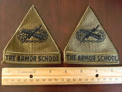 U.S. Army The Armor School military Subdued lot of 2 military patch patches