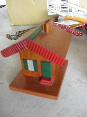 Vintage Wood Handmade House Bank  LOOK