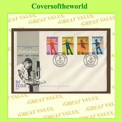 Zimbabwe 1981 Full Participation & Equality set First Day Cover
