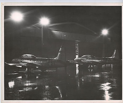 "Vintage Black and White Photo of Military Plane 8""x10"""