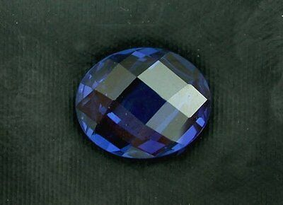 ONE 11x9 Synthetic Double Sided Checkerboard Oval Royal Blue Sapphire Lab Grown