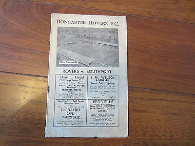 1946/7 Doncaster Rovers V Southport