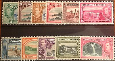 TRINIDAD & TOBAGO GVI DEFINITIVES VALUES TO 60 cents LIGHTLY MOUNTED MINT