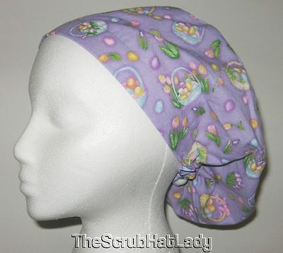 close fit Easter eggs baskets U pick size Surgical scrub hat cap H265
