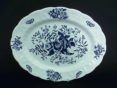BOOTHS PEONY 34.5cm OVAL SERVING PLATE (u)