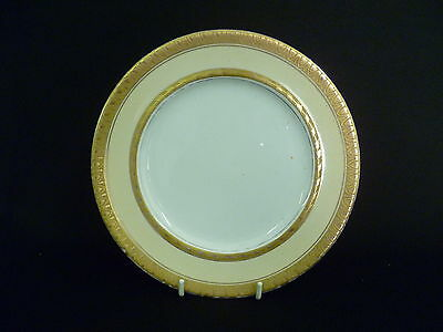 BOOTHS WHITE, CREAM AND GOLD 18.5cm SIDE PLATES (uw)