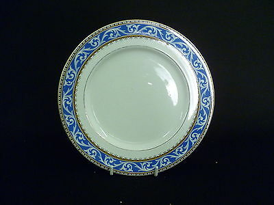 BOOTHS BLUE, CREAM AND GOLD 18.5cm SIDE PLATES (uw)