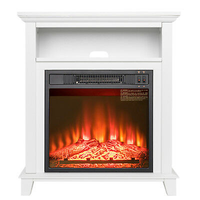 "28"" Insert Electric Modern Fireplace; 1400 Wt; Safe Cutoff; Remote Control"
