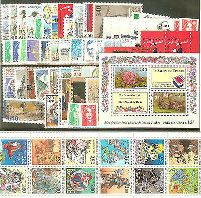 Timbres France Neufs ** Luxe Annee 1993 Sauf Yt N° 2824 Cote 115 € Faciale 31 €