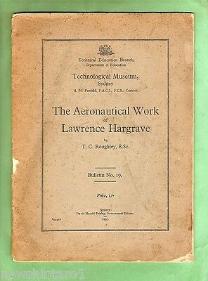 #d22.  1937 Aviation Booklet - The Aeronautical Works Of Lawrence Hargrave
