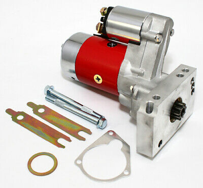 SBC BBC Chevy 3HP Mini Starter Red - Dual Inline 153 168 Tooth 305 350 396 454