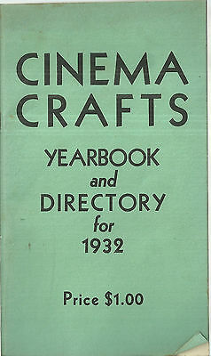 Cinema Crafts Yearbook and Directory 1932 Movie Camera Photography Book Ads