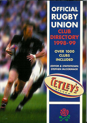 1998-99 - Tetley's Bitter Official Rugby Union Club Directory