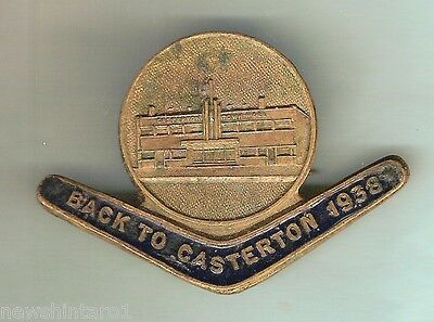 Back To Casterton 1938 Lapel Badge