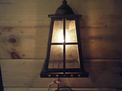 NIB Vintage Solid Brass Light Fixture Sconce Wall Porch Antique Patina 2342