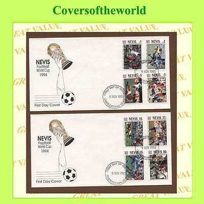 Nevis 1993 Football set on two First Day Covers