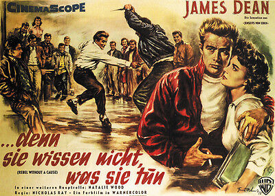Rebel Without a Cause (1955) James Dean movie poster print 3